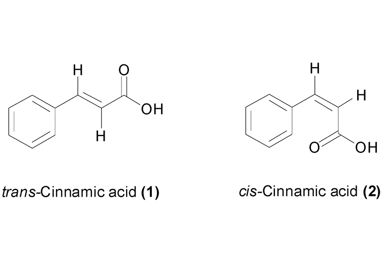 trans-Cinnamic acid and cis-Cinnamic acid